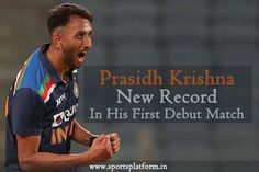 The Right-arm medium-fast Indian bowler Prasidh Krishna won the hearts of all by performing brilliantly in his debut match. #prasidhkrishna One Day International, Sports Update, 24 Years Old, Krishna, Arm, Hearts, Indian, Medium, Arms