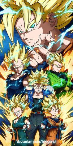 Z Warriors by Khaydriel on DeviantArt Dragon Ball Gt, Dragon Ball Image, Image Dbz, Anime Dragon, Foto Do Goku, Thanos Avengers, Z Warriors, Golden Warriors, Super Anime