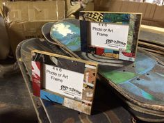 Recycled Skateboard Picture frames by Deckstool.com
