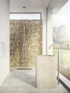 Stainless steel shower panel / outdoor shower CB406 | @mgsmilano