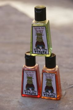 #Halloween Party Favors  Custom Hand Sanitizers 5 by DaiseyDoos, $12.50
