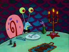 Gary Spongebob   spongebob gifs classy gary the snail eating