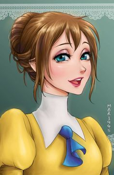 Jane - Tarzan - Personagens e Princesas da Disney ao estilo Anime por Mari945
