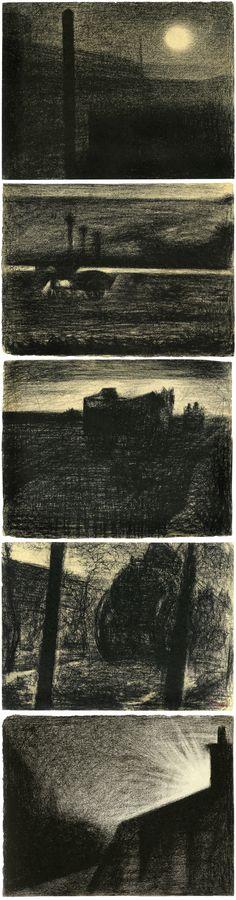 Georges Seurat, période 1881-84, crayon Conté sur papier