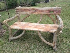 faux bois bench from San Antonio... Kelly Lansford