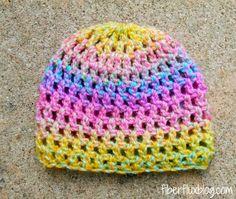Fiber Flux...Adventures in Stitching: Free Crochet Pattern...Confetti Newborn Hat!