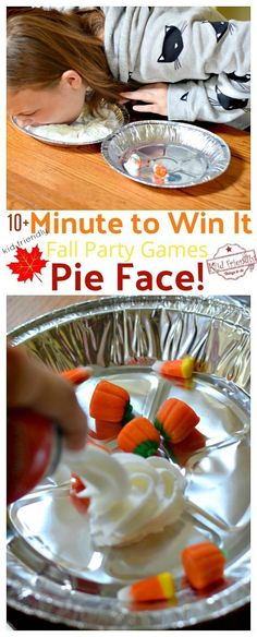 Over 10 Easy Minute to Win It Games that are Kid Friendly with a Fall Theme. These Thanksgiving Party games are perfect for kids, teens and adults. The whole family will enjoy these hilarious Thanksgiving or Fall Games to Play with Kids. Funny Christmas Party Games, Fall Games, Holiday Party Games, Halloween Party Games, Kids Party Games, Diy Games, Games For Parties, Harvest Party Games, Carnival Party Games