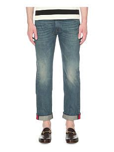 GUCCI Web regular-fit straight jeans
