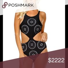 Arrived!!! Laser cut layered monokini S, M, L. Laser cut layered monokini. Like to be notified. S, M, L. Black and white. Will fit b and c cup. Swim One Pieces