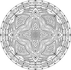 Free Printable Coloring page from Dover Publications Creative Haven Celtic Mandalas Coloring Book Free Printable Coloring Pages, Free Coloring Pages, Coloring Books, Celtic Mandala, Celtic Art, Mandalas Drawing, Mandala Coloring Pages, Mandala Printable, Henna Mehndi