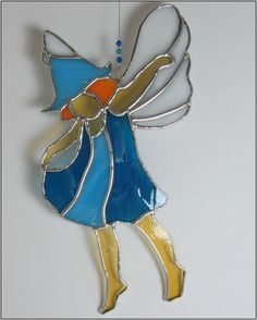 Stained glass Dancing Fairy Suncatcher in by RainbowStainedGlass, €29.00