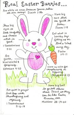 This is a great way to celebrate with the easter bunny but still remember the real meaning of the day.