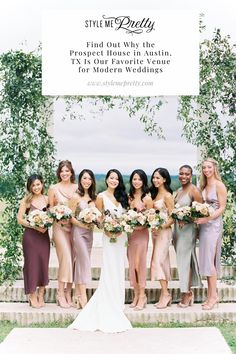 One of our favorite modern venues, boho decor, and romantic garden vibes sum up this dreamy editorial. If you're looking for a blank-slate location to create your wedding vision from scratch, then the Prospect House in Austin, Texas is the venue for you!  Photography: @featherandtwine  #austinwedding #austinvenue #texasweddingvenue #modernweddingideas Houses In Austin, Prospect House, Wedding Venues Texas, Bridesmaid Dresses, Wedding Dresses, Boho Decor, Style Me, Place Card Holders, Romantic
