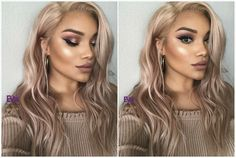 this hair color Hair Color 2018, Hair 2018, Cool Hair Color, Champagne Hair Color, Champagne Blonde Hair, Ash Blonde Hair, Blonde Color, Rock Your Hair, Diy Rose Gold Hair
