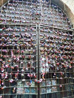 Locks of Love on Juliet's Wall, in Verona, Italy