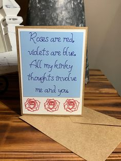 Your place to buy and sell all things handmade Homemade Valentines Day Cards, Valentines Day Poems, Valentines Day For Boyfriend, Naughty Valentines, Valentine Gifts For Husband, Cards For Boyfriend, Valentines Greetings, Valentine Greeting Cards, Valentines Diy