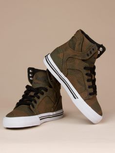 Camo Sky Top Kids by Supra Footwear - ShopKitson.com