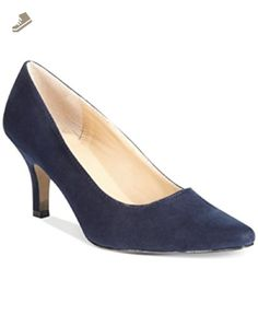 Karen Scott Womens Clancy Suede Pointed Toe Pumps, Blue, Size 7.0 - Karen scott pumps for women (*Amazon Partner-Link)
