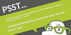 Psst, looking for a #job? We've got tons of opportunities at http://HolyMoleyJobs.com ! http://www.holymoleyjobs.com/job-match/  #needajob