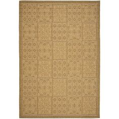 Safavieh Courtyard Collection CY6947-49 Gold and Natural Indoor/ Outdoor Area Rug (8' x 11')