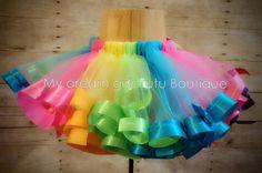 Candy Land tutu candyland tutu ribbon trim tutu Multicolor