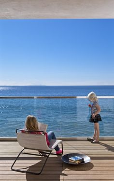 Image 2 of 11 from gallery of Living by the Sea / Minarc. Courtesy of Minarc Beautiful Ocean, Positano, Atrium, Coastal Living, Outdoor Furniture, Outdoor Decor, Sun Lounger, Countryside, Beach House