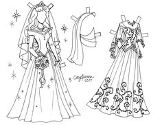 snow white line art paper doll to color by cory jensen 2 of 3 paper dolls cory jensen. Black Bedroom Furniture Sets. Home Design Ideas