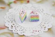 Pastel Rainbow Cake Earrings - Polymer Clay-Polymer Clay Earrings-Women Accessories-Jewelry-Rainbow-Kawaii-Sweet Lolita on Etsy, $21.38 CAD
