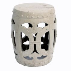 Vanilla Club garden stool; Shop Greige
