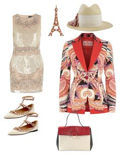 """Sans titre #246"" by kit92 ❤ liked on Polyvore featuring Needle & Thread, Etro, Valentino, Dot & Bo and Lanvin"