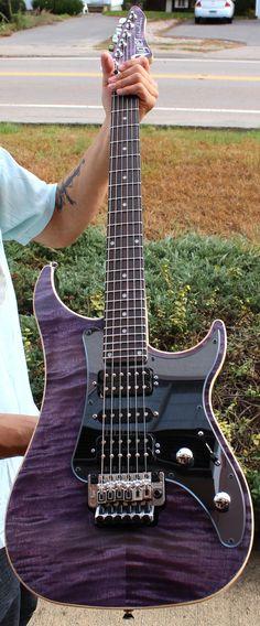Vigier Excalibur Custom Amethyst Purple Rosewood Fingerboard - Vigier - Guitars
