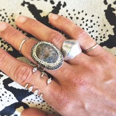 Silver stackers / Oros Ring & Delicate Silver Stacking Rings by Torchlight Jewelry