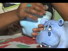 Artesanato com Massa de Biscuit - Hipopótamo - Manhã Viva