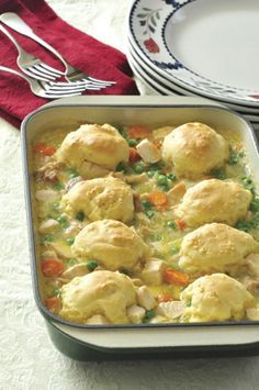 Chicken and Dumpling Casserole! Very popular recipe to share with all your friends! Tastes so good and is easy to make!
