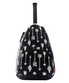 Embroidered Black Arrow Tennis Backpack-Personalized Tennis Backpack-Monogrammed  Tennis Bag-Embroide acd0271015f91