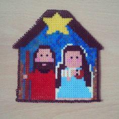 Belén de Navidad de Hama Beads