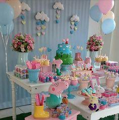 Ideas Birthday Cake Girls Kids Peppa Pig For 2019 Birthday Cakes Girls Kids, 2 Birthday, Pig Birthday Cakes, Birthday Parties, Bolo Da Peppa Pig, Cumple Peppa Pig, Birthday Party Decorations, Peppa Pig Party Ideas, Manzanita