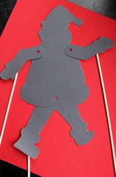 """Make a #Santa shadow #puppet with your child this #Christmas season! This is a great visual for parents who are reading """"'Twas the Night Before Christmas"""" to their kids!"""