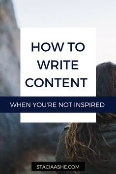 Copywriting tips for writing content when you aren't inspired.