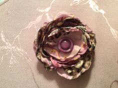 Satin flower mauves/ roses/ lace and leopard by Grammydebsdesigns, $6.50