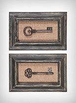 made three of these for my bedroom with the old keys, burlap and distressed cottage white frame.  They look great!