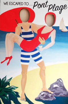 Party Props, Party Themes, Pool Party Kids, Beach Party, Face Cut Out, Photo Cutout, Face In Hole, 1920s Photos, Seaside Theme