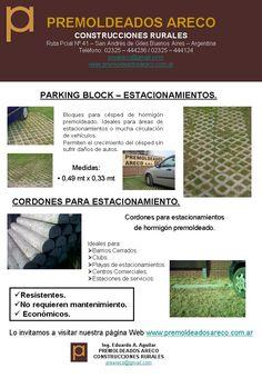 Bloques para estacionamiento – Premoldeados – Areco