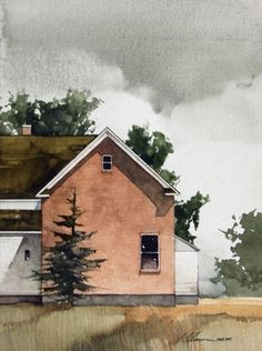 "2010, Late Summer by Joseph Alleman Watercolor ~ 8"" x 6"""