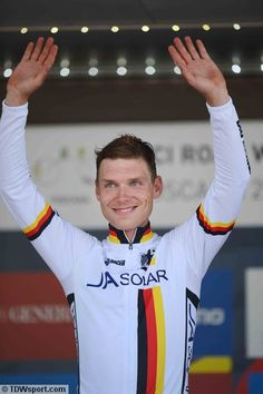Tim De Waele - Cycling: Road World Championships 2013 / TTT Men Elite Podium / Tony MARTIN (Ger) Gold Medal