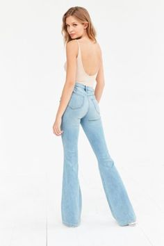 BDG Morrison High-Rise Flare Jean - Light Blue