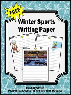 Olympics Writing Paper -  - pinned by @PediaStaff – Please Visit ht.ly/63sNtfor all our pediatric therapy pins