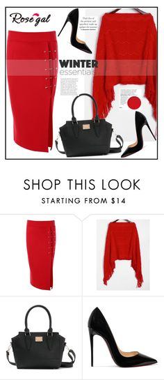 """""""ROSEGAL"""" by elly-852 ❤ liked on Polyvore featuring Christian Louboutin"""