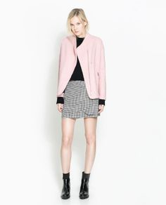 Image 1 of WOOL CARDIGAN WITH FUNNEL COLLAR from Zara