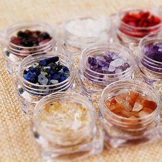 12 Colors/Set Fashion Quartz Rhinestone Turquoise Acrylic Nail Art Decoration In Stock Fast Ship